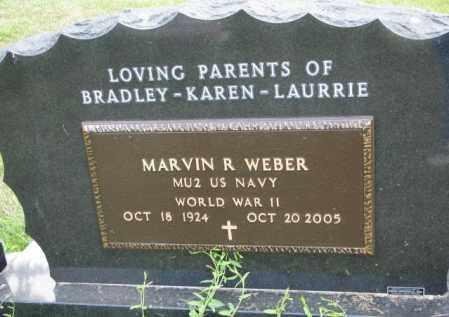 WEBER, MARVIN R. (WW II) - Cedar County, Nebraska | MARVIN R. (WW II) WEBER - Nebraska Gravestone Photos