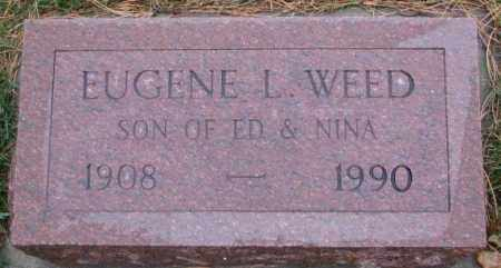 WEED, EUGENE L. - Cedar County, Nebraska | EUGENE L. WEED - Nebraska Gravestone Photos