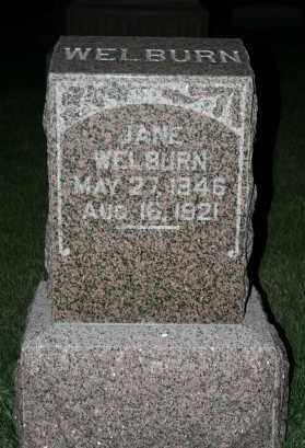 AGY WELBURN, LUCRETIA JANE - Cedar County, Nebraska | LUCRETIA JANE AGY WELBURN - Nebraska Gravestone Photos