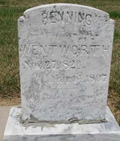 WENTWORTH, BENNING - Cedar County, Nebraska | BENNING WENTWORTH - Nebraska Gravestone Photos