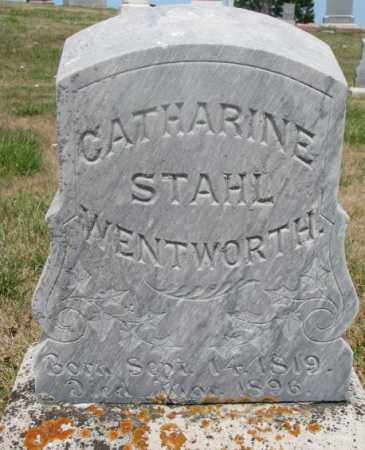 STAHL WENTWORTH, CATHARINE - Cedar County, Nebraska | CATHARINE STAHL WENTWORTH - Nebraska Gravestone Photos