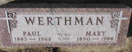 WERTHMAN, PAUL - Cedar County, Nebraska | PAUL WERTHMAN - Nebraska Gravestone Photos
