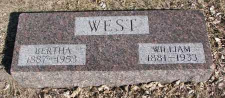 WEST, WILLIAM - Cedar County, Nebraska   WILLIAM WEST - Nebraska Gravestone Photos