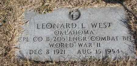 WEST, LEONARD L. - Cedar County, Nebraska | LEONARD L. WEST - Nebraska Gravestone Photos