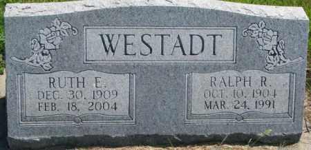 WESTADT, RUTH E. - Cedar County, Nebraska | RUTH E. WESTADT - Nebraska Gravestone Photos