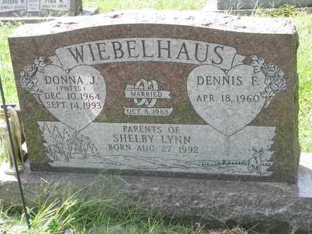 WIEBELHAUS, DENNIS F. - Cedar County, Nebraska | DENNIS F. WIEBELHAUS - Nebraska Gravestone Photos