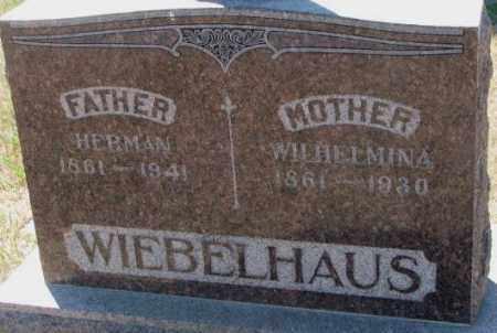 WIEBELHAUS, WILHELMINA - Cedar County, Nebraska | WILHELMINA WIEBELHAUS - Nebraska Gravestone Photos