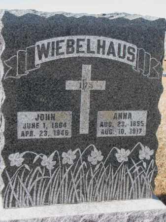 WIEBELHAUS, ANNA - Cedar County, Nebraska | ANNA WIEBELHAUS - Nebraska Gravestone Photos