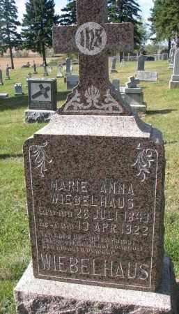 WIEBELHAUS, MARIE ANNA - Cedar County, Nebraska   MARIE ANNA WIEBELHAUS - Nebraska Gravestone Photos
