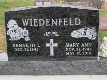 WIEDENFELD, KENNETH IRVIN - Cedar County, Nebraska | KENNETH IRVIN WIEDENFELD - Nebraska Gravestone Photos