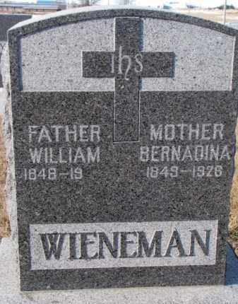 WIENEMAN, WILLIAM - Cedar County, Nebraska | WILLIAM WIENEMAN - Nebraska Gravestone Photos