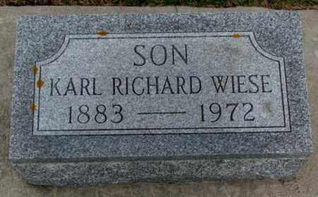 WIESE, KARL RICHARD - Cedar County, Nebraska | KARL RICHARD WIESE - Nebraska Gravestone Photos