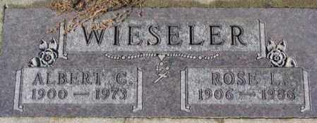 WIESELER, ALBERT C. - Cedar County, Nebraska | ALBERT C. WIESELER - Nebraska Gravestone Photos