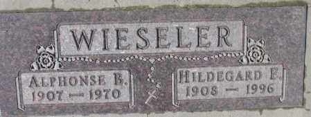 WIESELER, ALPHONSE B. - Cedar County, Nebraska | ALPHONSE B. WIESELER - Nebraska Gravestone Photos