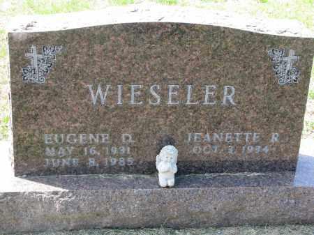 WIESELER, EUGENE D. - Cedar County, Nebraska | EUGENE D. WIESELER - Nebraska Gravestone Photos