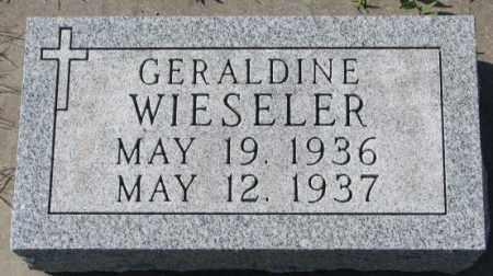 WIESELER, GERALDINE - Cedar County, Nebraska | GERALDINE WIESELER - Nebraska Gravestone Photos