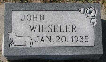 WIESELER, JOHN - Cedar County, Nebraska | JOHN WIESELER - Nebraska Gravestone Photos