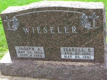 WIESELER, JOSEPH A. - Cedar County, Nebraska | JOSEPH A. WIESELER - Nebraska Gravestone Photos