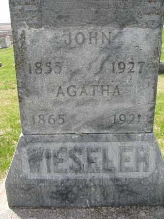 WIESELER, AGATHA (CLOSEUP) - Cedar County, Nebraska | AGATHA (CLOSEUP) WIESELER - Nebraska Gravestone Photos