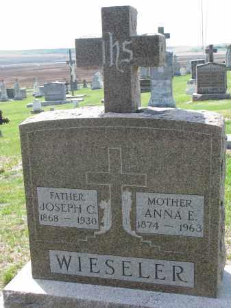 WIESELER, ANNA E. - Cedar County, Nebraska | ANNA E. WIESELER - Nebraska Gravestone Photos