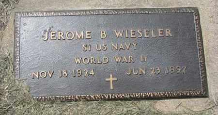 WIESELER, JEROME B. (WW II) - Cedar County, Nebraska | JEROME B. (WW II) WIESELER - Nebraska Gravestone Photos