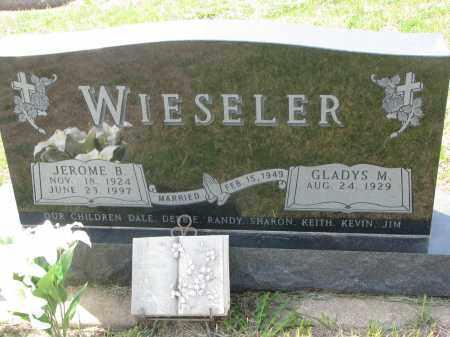 WIESELER, GLADYS M. - Cedar County, Nebraska | GLADYS M. WIESELER - Nebraska Gravestone Photos