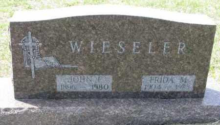 WIESELER, FRIDA M. - Cedar County, Nebraska | FRIDA M. WIESELER - Nebraska Gravestone Photos