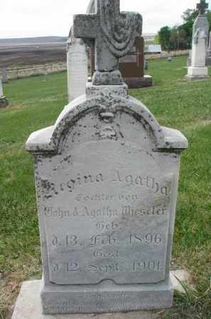 WIESELER, REGINA AGATHA - Cedar County, Nebraska   REGINA AGATHA WIESELER - Nebraska Gravestone Photos