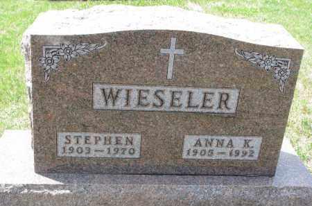 WIESELER, STEPHEN - Cedar County, Nebraska | STEPHEN WIESELER - Nebraska Gravestone Photos