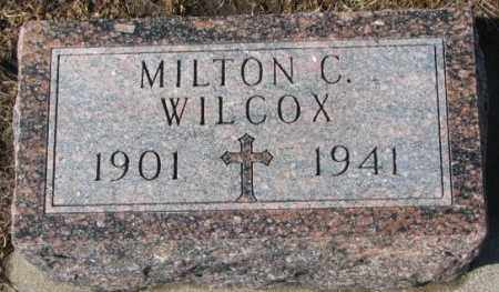 WILCOX, MILTON C. - Cedar County, Nebraska | MILTON C. WILCOX - Nebraska Gravestone Photos
