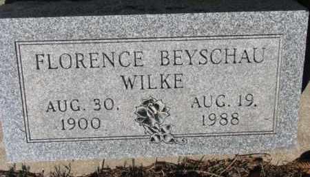 BEYSCHAU WILKE, FLORENCE - Cedar County, Nebraska   FLORENCE BEYSCHAU WILKE - Nebraska Gravestone Photos