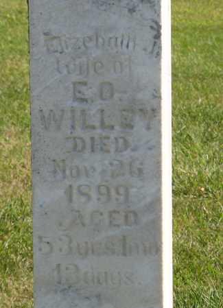 WILLEY, ELIZEBATH J.  (CLOSEUP) - Cedar County, Nebraska | ELIZEBATH J.  (CLOSEUP) WILLEY - Nebraska Gravestone Photos