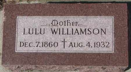 WILLIAMSON, LULU - Cedar County, Nebraska | LULU WILLIAMSON - Nebraska Gravestone Photos
