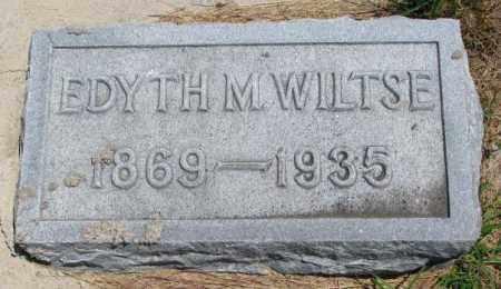 WILTSE, EDYTH M. - Cedar County, Nebraska | EDYTH M. WILTSE - Nebraska Gravestone Photos