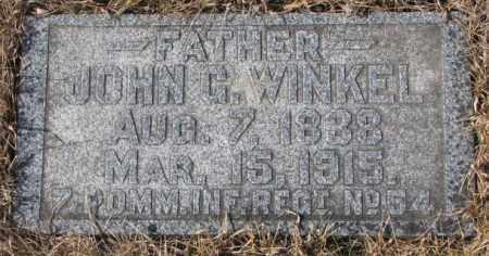 WINKEL, JOHN G. - Cedar County, Nebraska | JOHN G. WINKEL - Nebraska Gravestone Photos