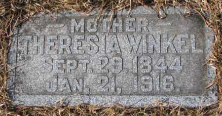 WINKEL, THERESIA - Cedar County, Nebraska | THERESIA WINKEL - Nebraska Gravestone Photos