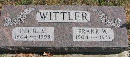 WITTLER, FRANK W. - Cedar County, Nebraska   FRANK W. WITTLER - Nebraska Gravestone Photos