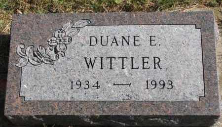 WITTLER, DUANE E. - Cedar County, Nebraska | DUANE E. WITTLER - Nebraska Gravestone Photos