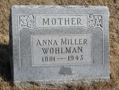 WOHLMAN, ANNA - Cedar County, Nebraska   ANNA WOHLMAN - Nebraska Gravestone Photos
