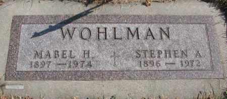 WOHLMAN, MABEL H. - Cedar County, Nebraska | MABEL H. WOHLMAN - Nebraska Gravestone Photos