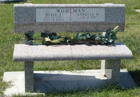WOHLMAN, MERLE E. - Cedar County, Nebraska | MERLE E. WOHLMAN - Nebraska Gravestone Photos