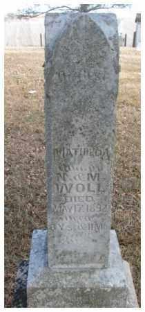 WOLL, MATHILDA - Cedar County, Nebraska | MATHILDA WOLL - Nebraska Gravestone Photos