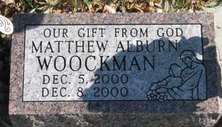 WOOCKMAN, MATTHEW ALBURN - Cedar County, Nebraska   MATTHEW ALBURN WOOCKMAN - Nebraska Gravestone Photos