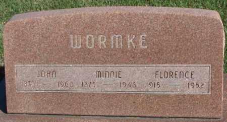 WORMKE, JOHN - Cedar County, Nebraska | JOHN WORMKE - Nebraska Gravestone Photos