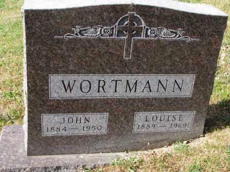 WORTMANN, LOUISE - Cedar County, Nebraska | LOUISE WORTMANN - Nebraska Gravestone Photos
