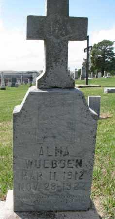 WUEBBEN, ALMA - Cedar County, Nebraska | ALMA WUEBBEN - Nebraska Gravestone Photos