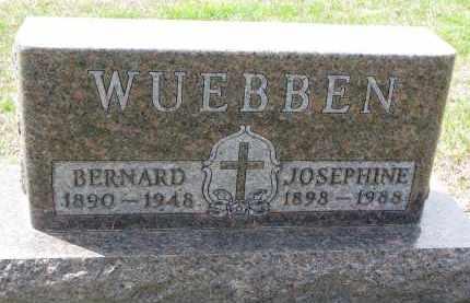 WUEBBEN, JOSEPHINE - Cedar County, Nebraska | JOSEPHINE WUEBBEN - Nebraska Gravestone Photos