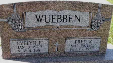 WUEBBEN, FRED B. - Cedar County, Nebraska | FRED B. WUEBBEN - Nebraska Gravestone Photos