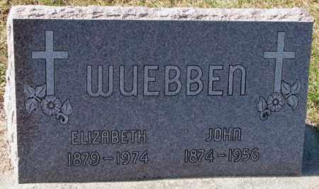 WUEBBEN, ELIZABETH - Cedar County, Nebraska | ELIZABETH WUEBBEN - Nebraska Gravestone Photos