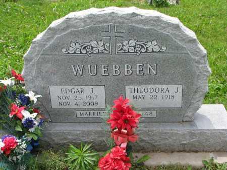WUEBBEN, THEODORA J. - Cedar County, Nebraska | THEODORA J. WUEBBEN - Nebraska Gravestone Photos